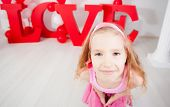 Child in love. Decoration for celebration. Valentine's, mother's day or weddings
