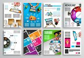 image of web template  - Set of Flyer Design - JPG
