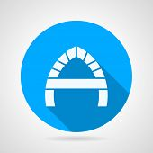 Round flat vector icon for arch