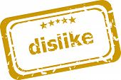 Dislike Stamp Isolated On White Background