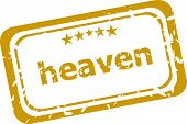 Heaven Stamp Isolated On White Background