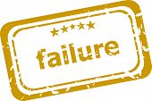 Failure Stamp Isolated On White Background