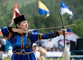 Mongolian Woman Archer