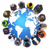 Global Business World Map Globalization Concept