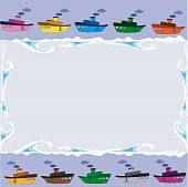 Frame with ships