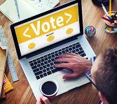 Digital Online Vote Democracy Politics Election Government Concept