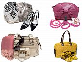 Ð¡ollage From Feminine Bags, Loafers And Accessory