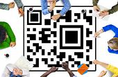 QR Code Marketing Data Concept