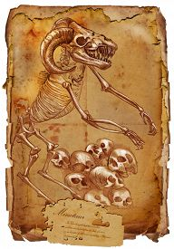 stock photo of minotaur  - Illustration of a series of legendary animals and monsters  - JPG