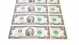 stock photo of two dollar bill  - Two - JPG