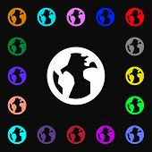 image of geography  - Globe World map geography icon sign - JPG