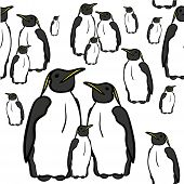 stock photo of north-pole  - seamless pattern of penguins at the North Pole vector illustration - JPG