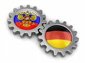 pic of snatch  - Russian and German flags on a gears - JPG