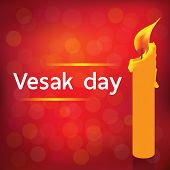 picture of wesak day  - VESAK DAY on red background vector design - JPG