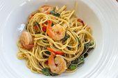 foto of thai cuisine  - close up of spicy spaghetti thai cuisine - JPG
