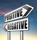 picture of positive thought  - positive or negative thinking pessimistic or optimistic view - JPG