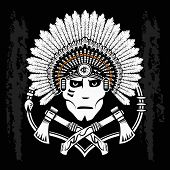 picture of valiant  - North American Indian chief - JPG