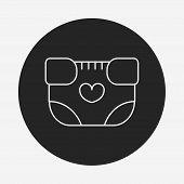 pic of diaper  - Baby Diaper Line Icon - JPG