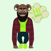 stock photo of ape-man  - Vector illustration - JPG
