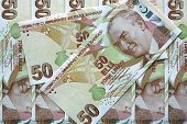 picture of turkish lira  - Different Banknotes of turkish Currency  - JPG