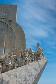 stock photo of conquistadors  - Monument to the Discoveries at Belem Lisbon Portugal - JPG