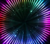 foto of cosmic  - Colorful shining cosmic lights vector abstract background - JPG