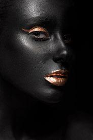 picture of dark-skin  - fashion portrait of a dark - JPG