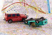 Car Crash And Police Rescue Team