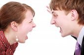 Young couple: relations, problems, disagreement