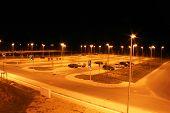 Parking Lot At Night