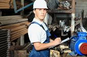 stock photo of factory-worker  - Industrial theme - JPG