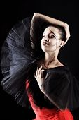 foto of ballet-dancer  - Shot of an expressive ballet dancer - JPG