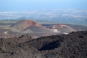 Two Craters On The Base Of Mt. Etna