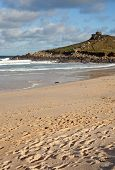 picture of st ives  - Porthmeor sandy beach in St - JPG