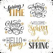 Постер, плакат: Spring Time Wording