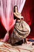 foto of concubine  - Shot of an oriental woman in a traditional costume - JPG