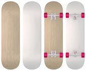 stock photo of casper  - Blank skateboard templates in wood - JPG