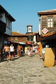 Market at Nesebar island - most popular touristic place in Bulgaria