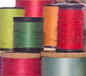 Multicolored Spools Of Sewing Thread