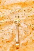 Royal luxury golden fork (shallow DoF)