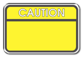 stock photo of warning-signs  - caution warning sign - JPG