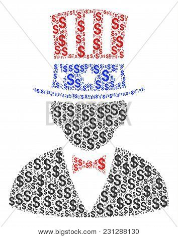 American Uncle Sam Mosaic Of