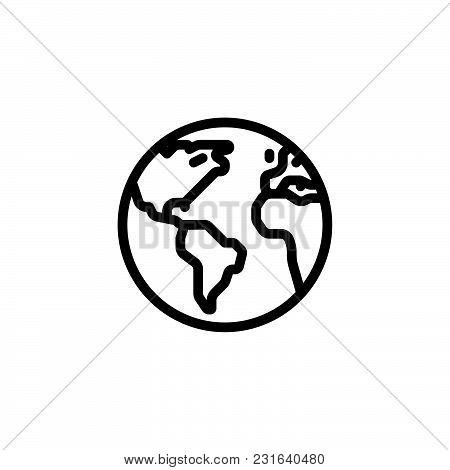 World Icon Isolated On White