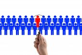 image of recruiting  - Choosing the Right Person employee for business recruitment - JPG