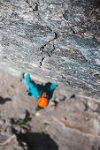 Rock-climber On A Rock. poster