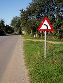 Turn Left Road Sign