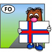 'Brownie' Showing The Flag Of The Faroe Islands