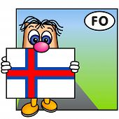 'Paley' Showing The Flag Of The Faroe Islands