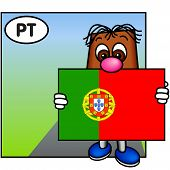 'Brownie' Showing The Flag Of Portugal