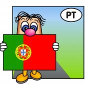 'Paley' Showing The Flag Of Portugal